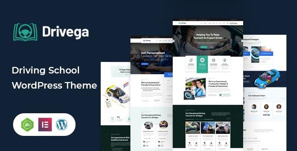 Drivega - Driving School WordPress Theme - Business Corporate