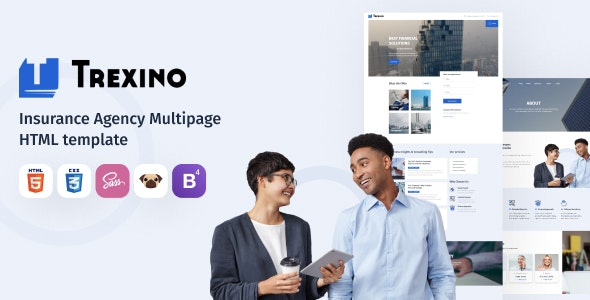 Trexino - Insurance Agency HTML5 Website Template - Business Corporate