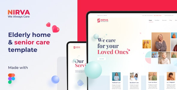NIRVA | Elderly Care and Old Age Home Website Template - Business Corporate