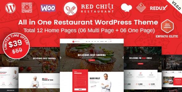 RedChili - Restaurant WordPress Theme - Restaurants & Cafes Entertainment