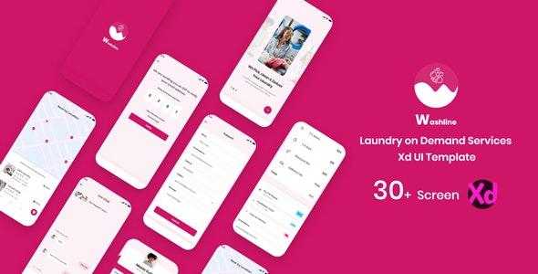 WashLine - On demand laundry mobile App UI Kit - Business Corporate