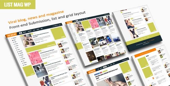 List Mag WP v3.3 – A Responsive WordPress Blog Theme