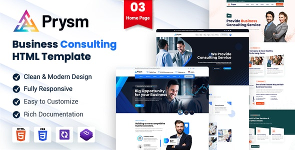 Prysm - Consulting Business Template - Business Corporate