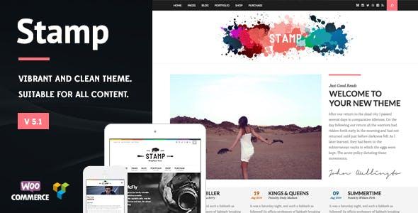 Stamp - Vibrant WordPress Theme