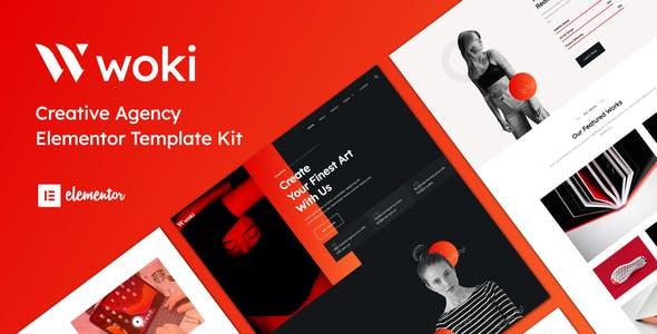 Woki - Creative Agency Elementor Template Kit