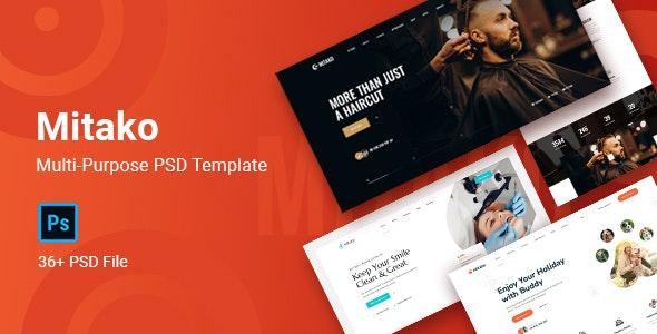 Mitako - Multi-Purpose PSD Template - Business Corporate