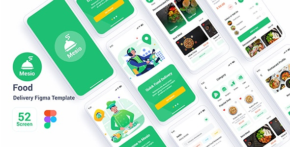 Mesio - Food Delivery Figma Template - Food Retail