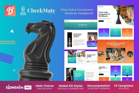 CheckMate - Chess Club & Tournaments Elementor Template Kit - Business & Services Elementor