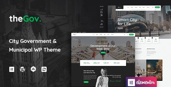 TheGov -  Municipal and Government WordPress Theme