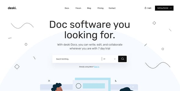 Deski - Creative Saas Sketch & PSD Template