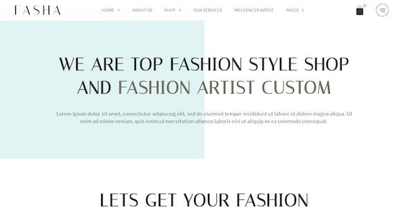 Fasha - Woman Fashion & Shop eCommerce Elementor Template Kit