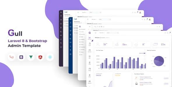 Gull -  Bootstrap 4 HTML & Laravel  Admin Dashboard Template