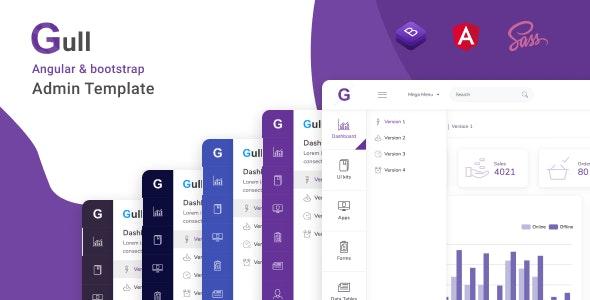 Gull - Angular 12+ Bootstrap Admin Dashboard Template - Admin Templates Site Templates