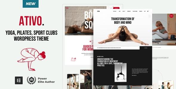 Ativo - Yoga Pilates WordPress - Health & Beauty Retail
