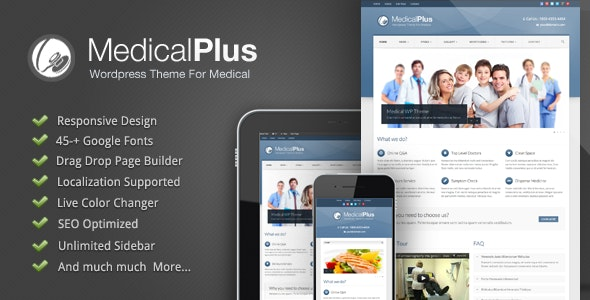 Medical Plus - Doctor / Health WordPress Theme - Corporate WordPress