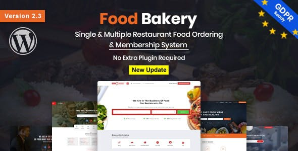 FoodBakery | Delivery Restaurant Directory WordPress Theme