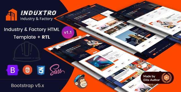 Industry & Factory HTML Template - Induxtro