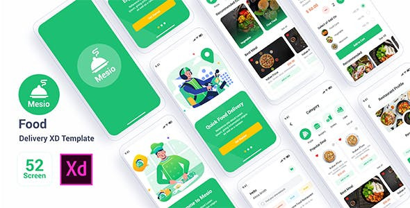 Mesio - Food Delivery Adobe XD Template
