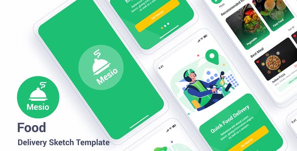 Mesio – Food Delivery Sketch Template