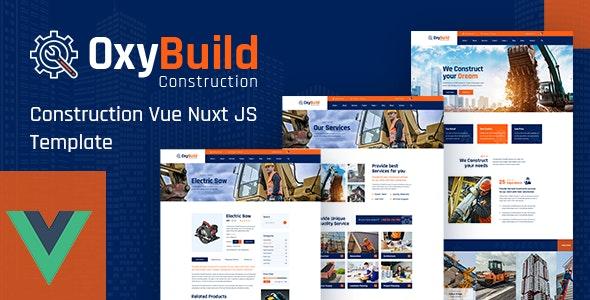 OxyBuild – Construction Vue Nuxt JS Template - Business Corporate