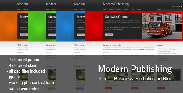 Modern Publishing - Corporate Site Templates