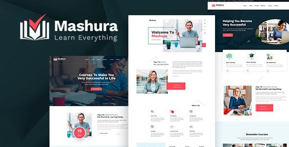 Mashura - LMS Education & Online Courses Theme - Business Corporate