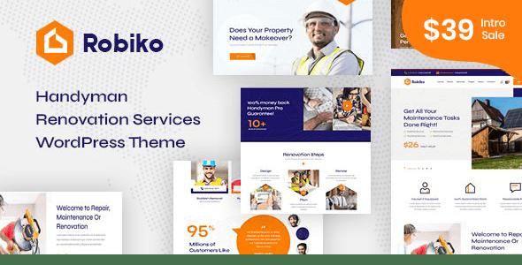 Robiko - Handyman Renovation Services WordPress - Business Corporate