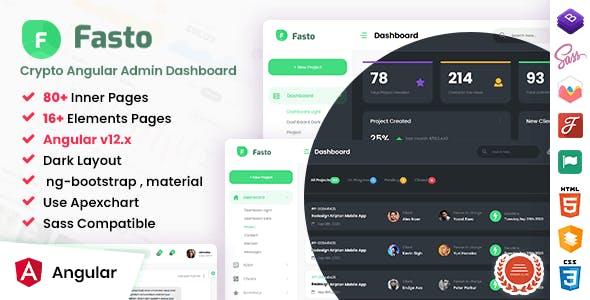 Fasto - Angular 12+ Admin Dashboard Template