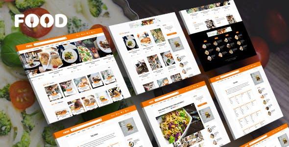 Tasty Food - Recipes & Blog WordPress Theme