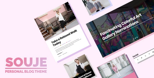 Souje - Personal WordPress Blog Theme by Burnhambox | ThemeForest