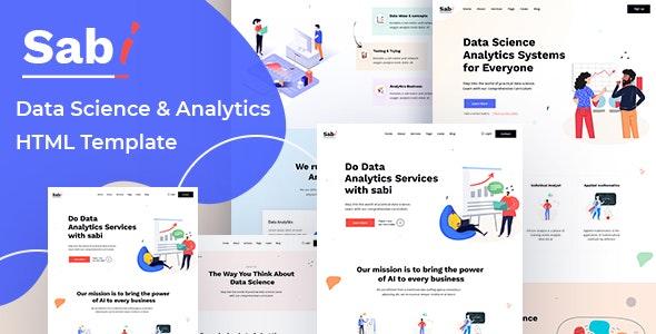 Sabi - Digital Data Science HTML Template - Computer Technology