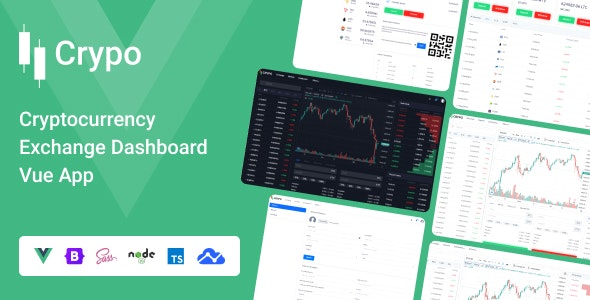 Crypo - Cryptocurrency Exchange Dashboard Vue App - Site Templates