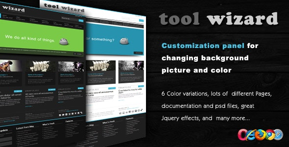 Tool Wizard 2 in 1 - Portfolio/Business template - Business Corporate