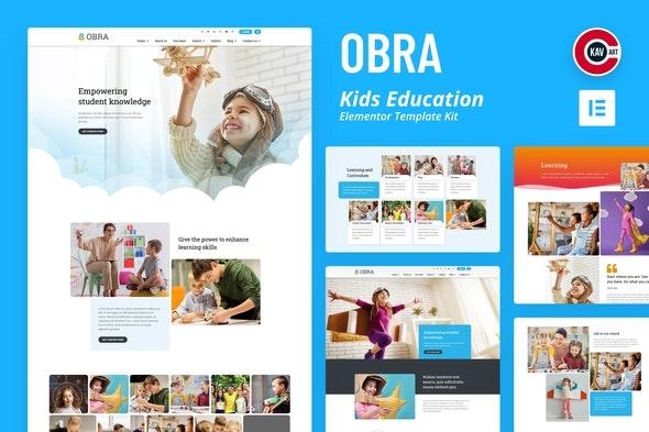 Obra - Kids Education & School Template Kit - Education Elementor