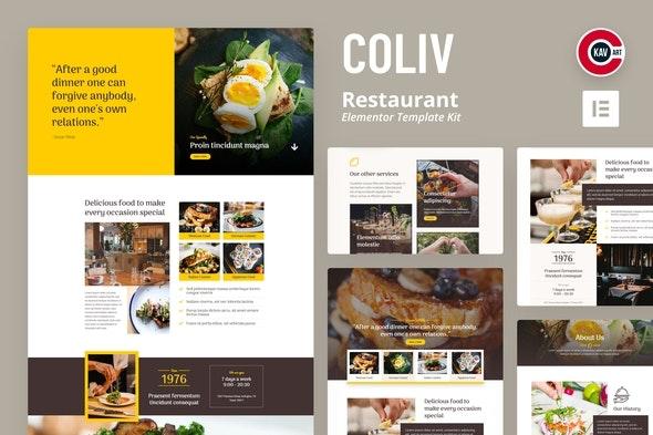 Coliv - Restaurant Template Kit - Food & Drink Elementor