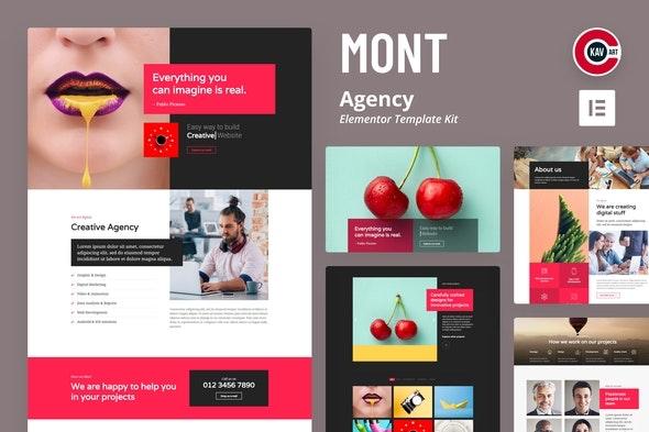 Mont - Agency Template kit - Creative & Design Elementor