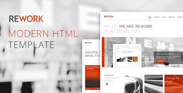 REWORK - Responsive HTML5/CSS3 Template
