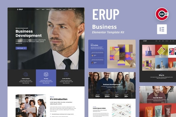 Erup - Business Template Kit - Business & Services Elementor