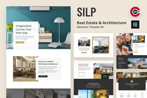 Silp - Real Estate & Architecture Template Kit - Real Estate & Construction Elementor