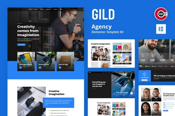 Gild - Agency Template Kit - Business & Services Elementor