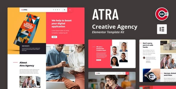 Atra - Creative Agency Elementor Template Kit