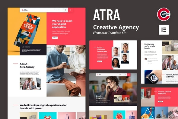 Atra - Creative Agency Elementor Template Kit - Business & Services Elementor