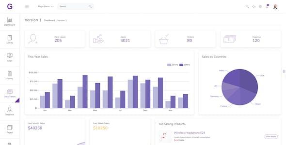 Gull -  HTML & Vuejs Admin Dashboard Template