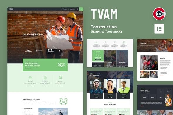 Tvam - Construction Elementor Template Kit - Real Estate & Construction Elementor