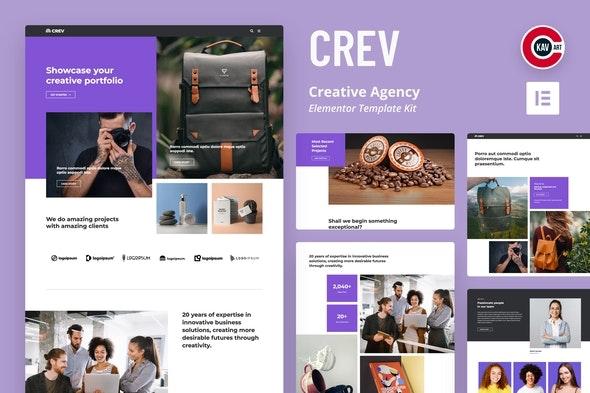Crev -  Creative Agency Elementor Template Kit - Creative & Design Elementor