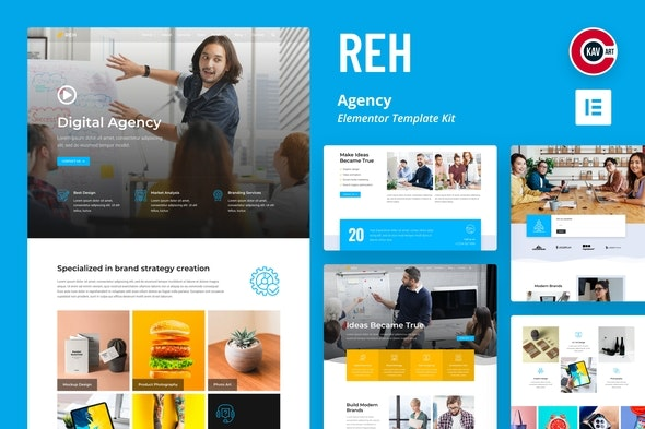 Reh - Agency Elementor Template Kit - Business & Services Elementor