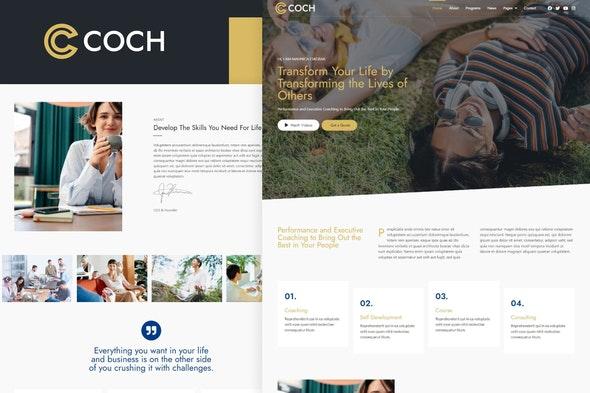 Coch - Business Coach Elementor Template Kit - Business & Services Elementor