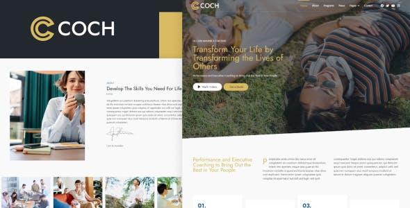 Coch - Business Coach Elementor Template Kit