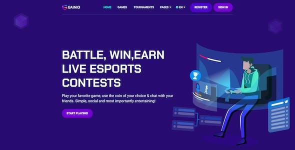 Gainio - eSports and Gaming Figma Templates