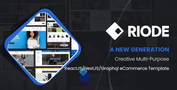 Riode - React NextJS  eCommerce Template - Fashion Retail